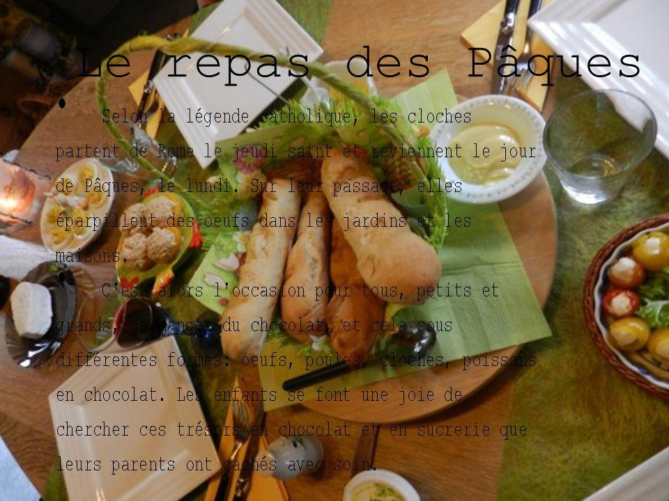 Le repas des Pâques