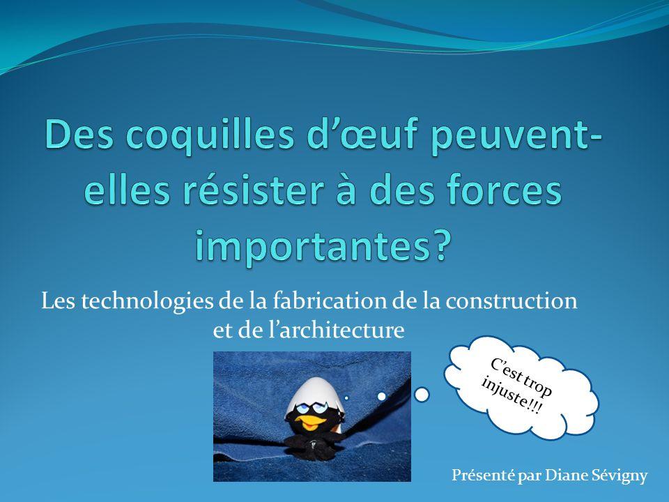 Les technologies de la fabrication de la construction et de larchitecture Cest trop injuste!!! Présenté par Diane Sévigny