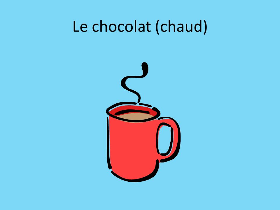 Le chocolat (chaud)