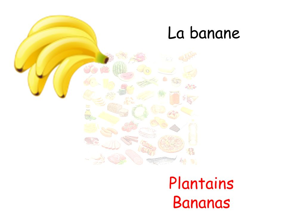 La banane Plantains Bananas