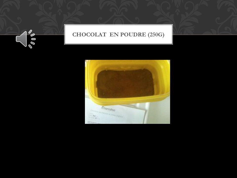 CHOCOLAT EN POUDRE (250G)