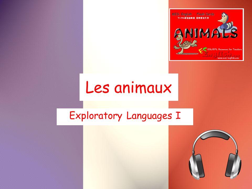 Les animaux Exploratory Languages I