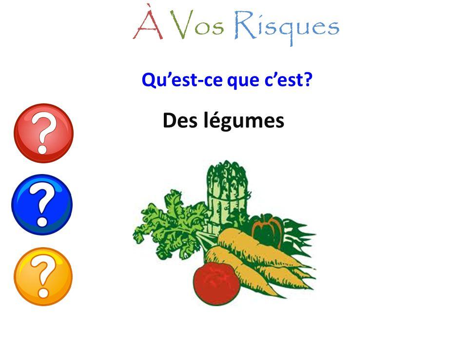 Quest-ce que cest? Des légumes À Vos Risques