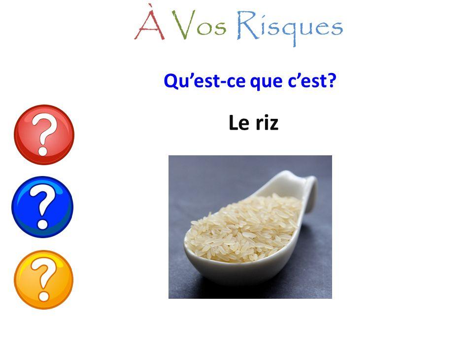 Le riz À Vos Risques Quest-ce que cest?