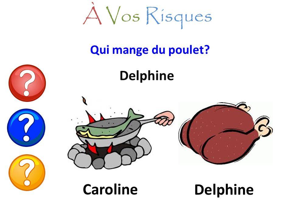 Qui mange du poulet? Delphine À Vos Risques Caroline Delphine