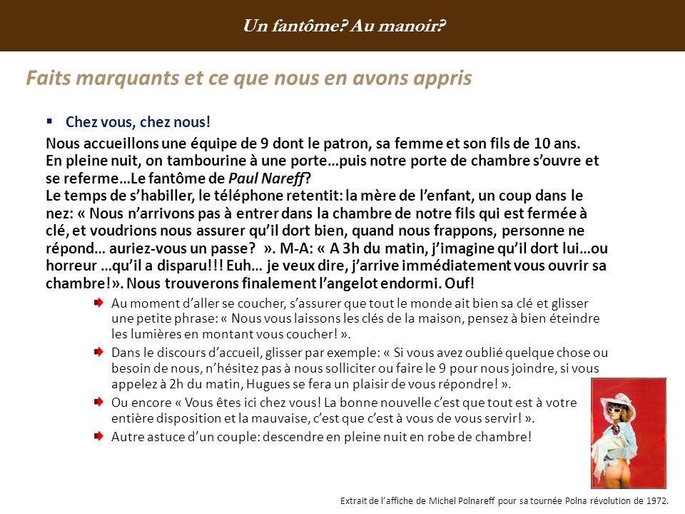 Faits marquants et ce que nous en avons appris « Les délices de Manon », la pâtissière du Manoir.