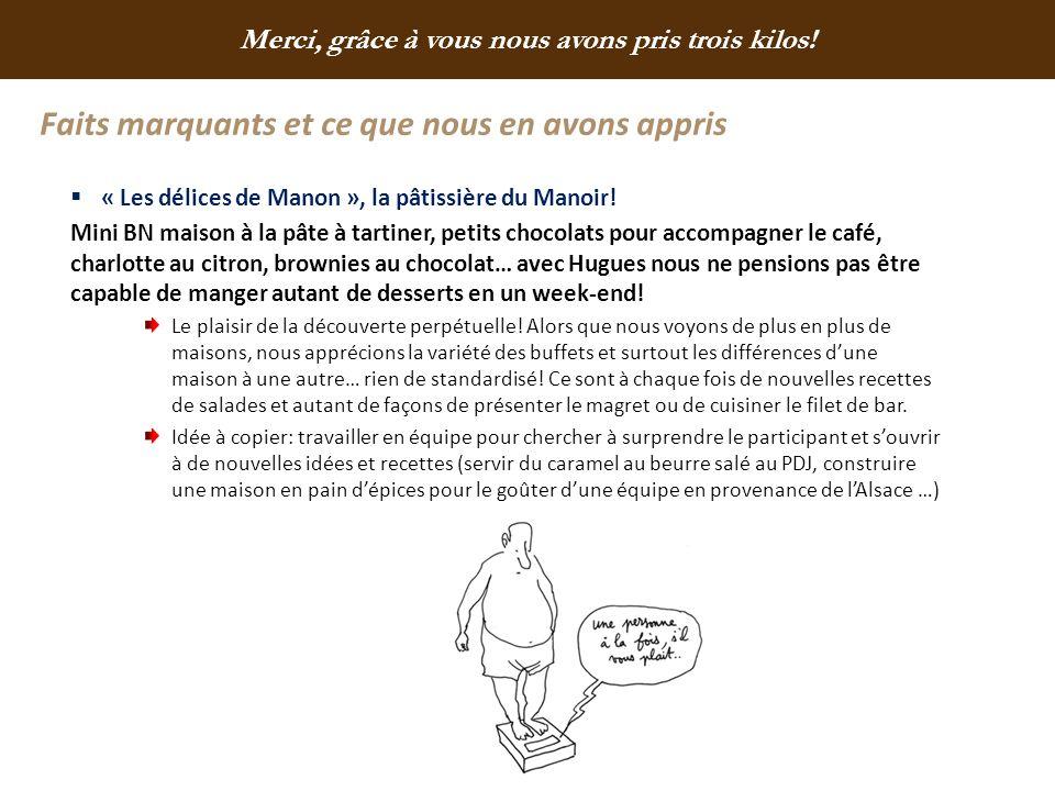 Faits marquants et ce que nous en avons appris « Les délices de Manon », la pâtissière du Manoir! Mini BN maison à la pâte à tartiner, petits chocolat