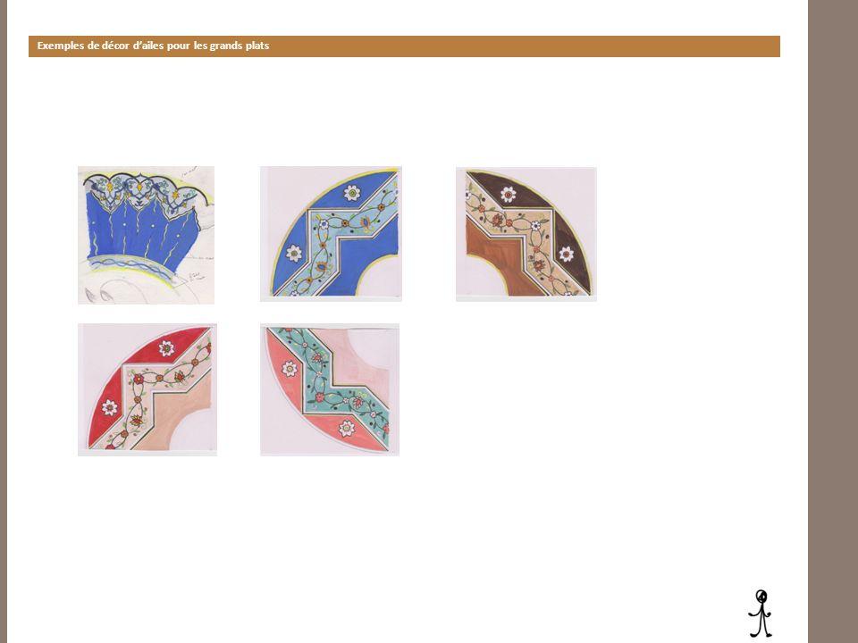 Exemples de décor dailes pour les grands plats