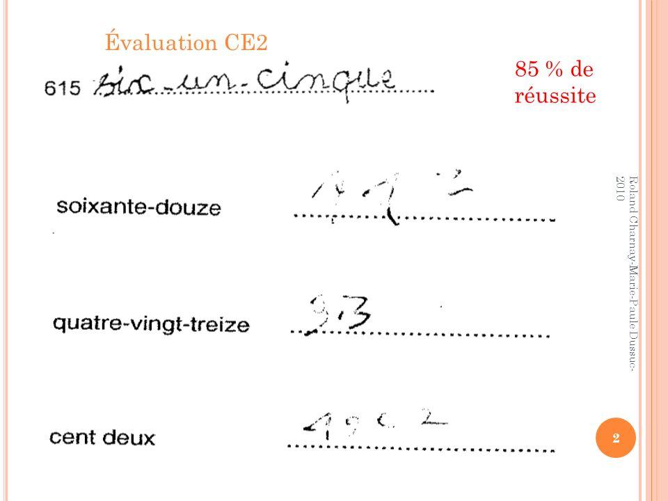 3 Roland Charnay-Marie-Paule Dussuc- 2010 88,9% de réussite 31,6 % de réussite 28,9 % répondent : 3500,2 ou 35,200 ou 3500,200 Évaluation 6 ème 2008