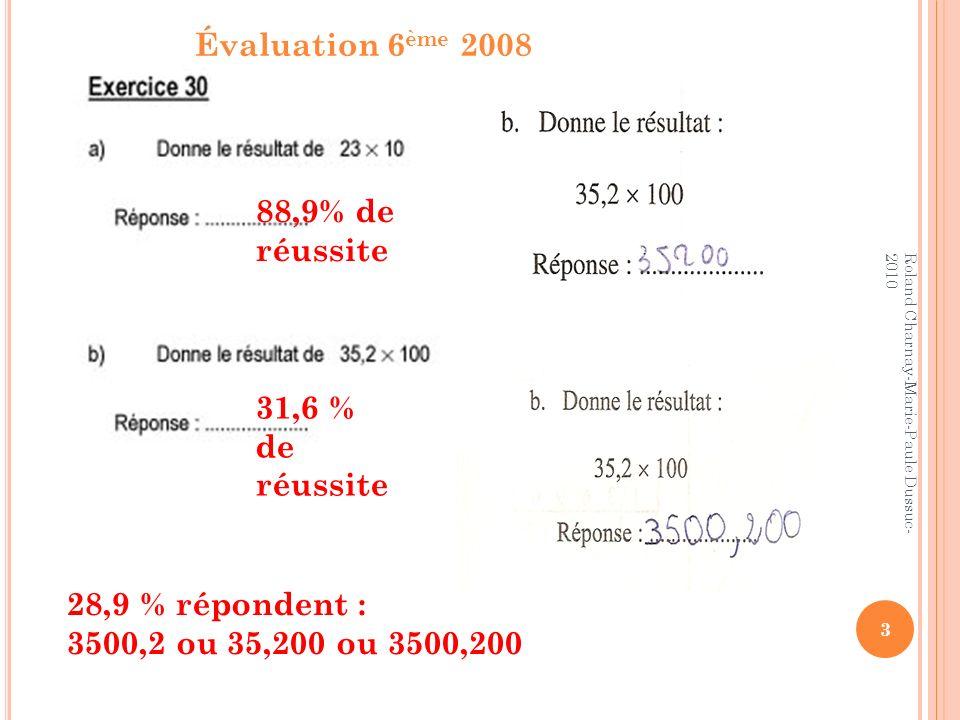 C ONCLUSION … Quand on multiplie un nombre par 10, chaque chiffre prend une valeur 10 fois plus grande Ce n est pas la virgule qui se déplace, mais les chiffres qui changent de valeur… donc de place C est la même chose pour les entiers et pour les décimaux .