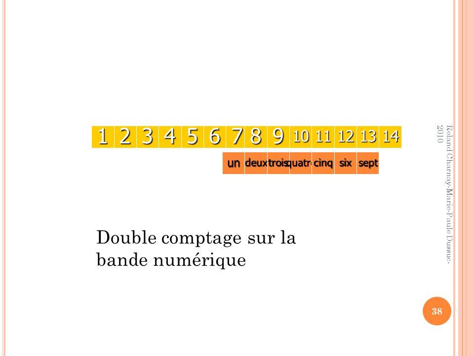 38 1234567891011121314 undeuxtroisquatrecinqsixsept Roland Charnay-Marie-Paule Dussuc- 2010 Double comptage sur la bande numérique