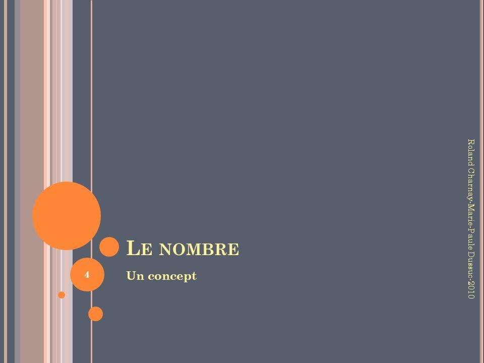 L E NOMBRE Un concept Roland Charnay-Marie-Paule Dussuc-2010 4
