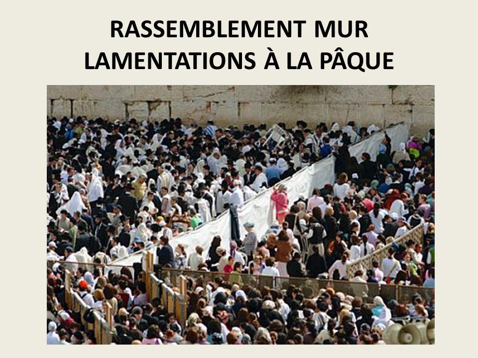 RASSEMBLEMENT MUR LAMENTATIONS À LA PÂQUE
