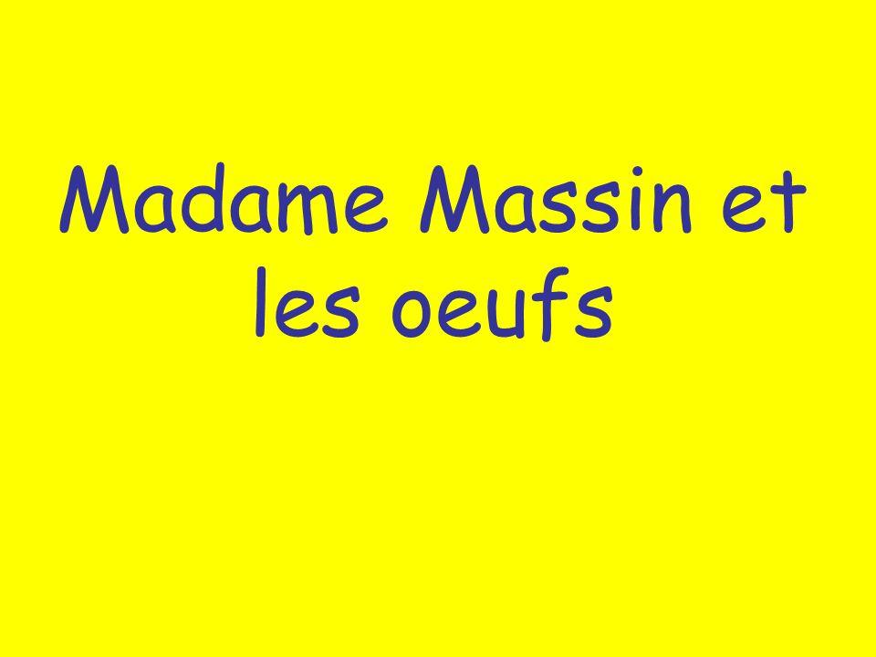 Mercredi matin, Madame Massin est dans le jardin.