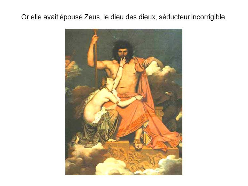Zeus était régulièrement infidèle, et ses nombreuses infidélités étaient la cause de fréquentes disputes entre les divins époux.