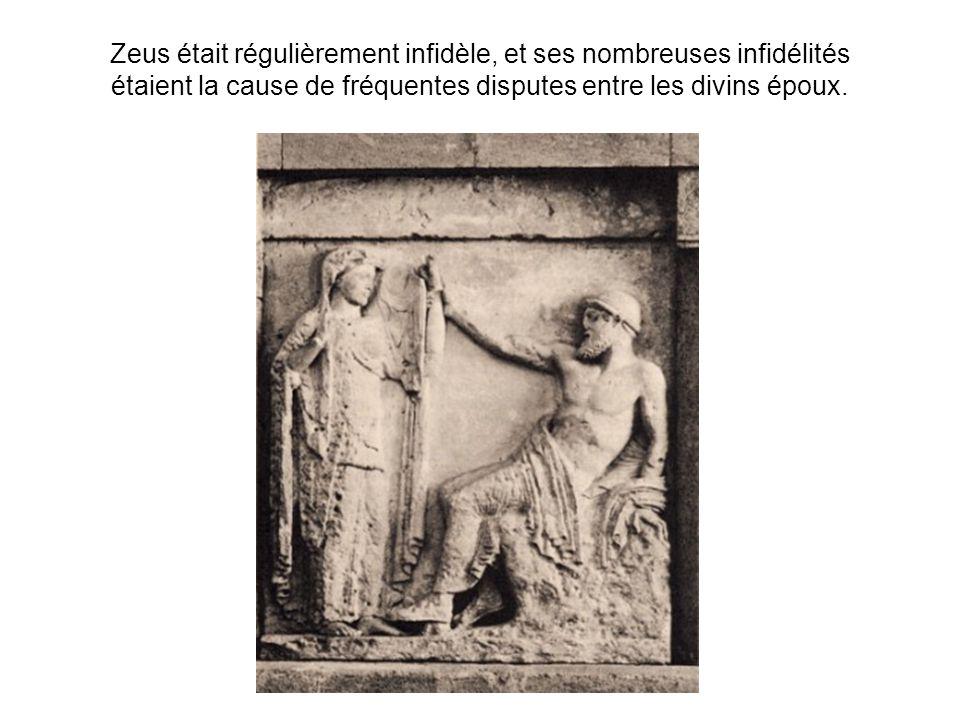 Ces amours passagères mettaient Héra hors delle ; elle poursuivit implacablement les maîtresses de son époux et les enfants quil avait eus delles.