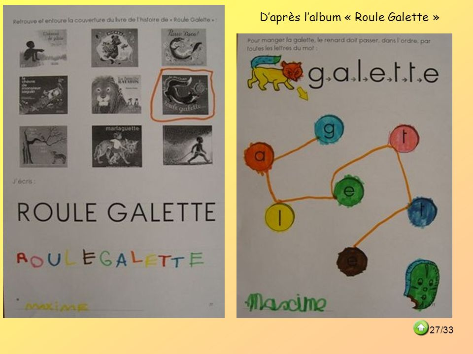 Daprès lalbum « Roule Galette » 27/33
