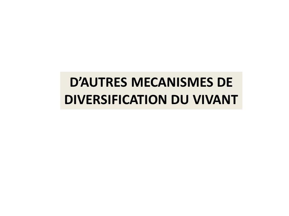 DAUTRES MECANISMES DE DIVERSIFICATION DU VIVANT