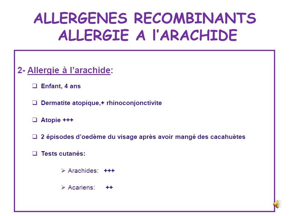 ALLERGENES RECOMBINANTS ALLERGIE AU LATEX Les marqueurs de lallergie au latex: rHev 5 et rHevb 6.01/6.02 Au MAROC, lallergie au latex = 10 % du person