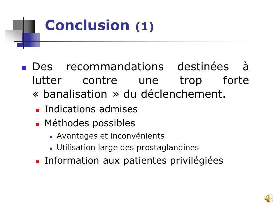 Information aux patientes Informer sur le déroulement Expliquer les méthodes, leurs avantages et leurs inconvénients Informer sur les inconvénients Mo