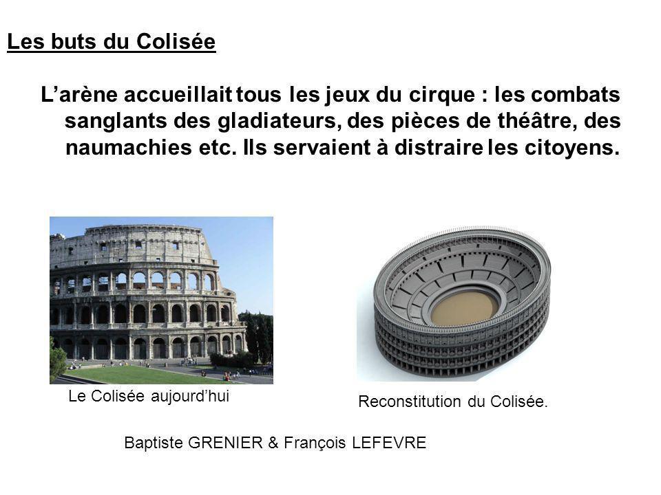 Les buts du Colisée Larène accueillait tous les jeux du cirque : les combats sanglants des gladiateurs, des pièces de théâtre, des naumachies etc.