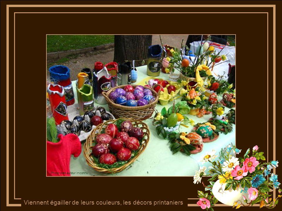 Les œufs de Pâques multicolores Photo web auteur inconnu
