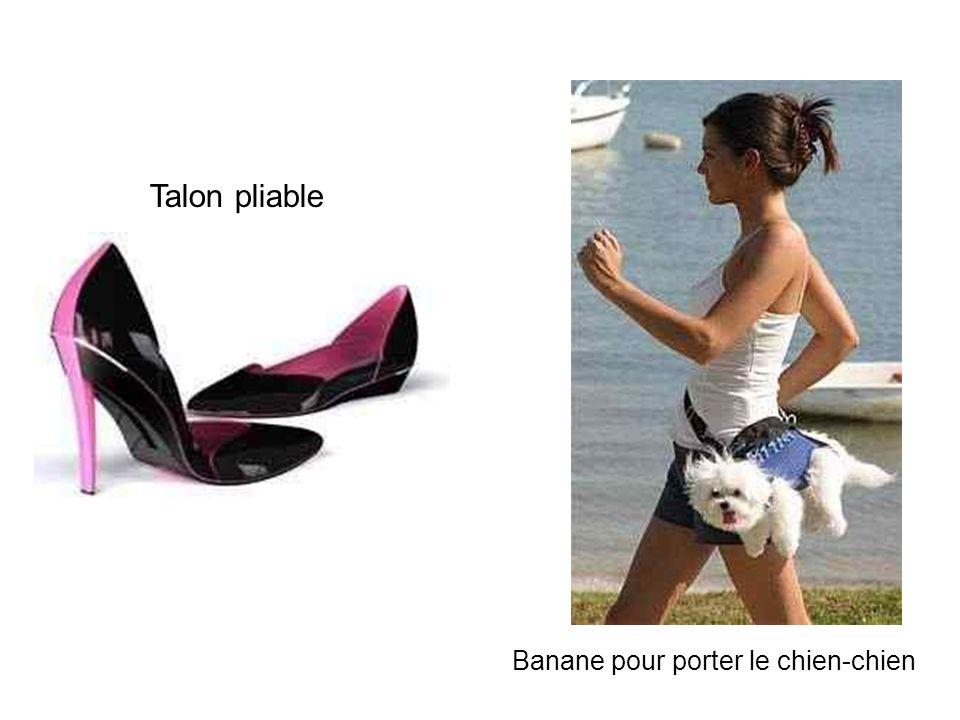 Talon pliable Banane pour porter le chien-chien