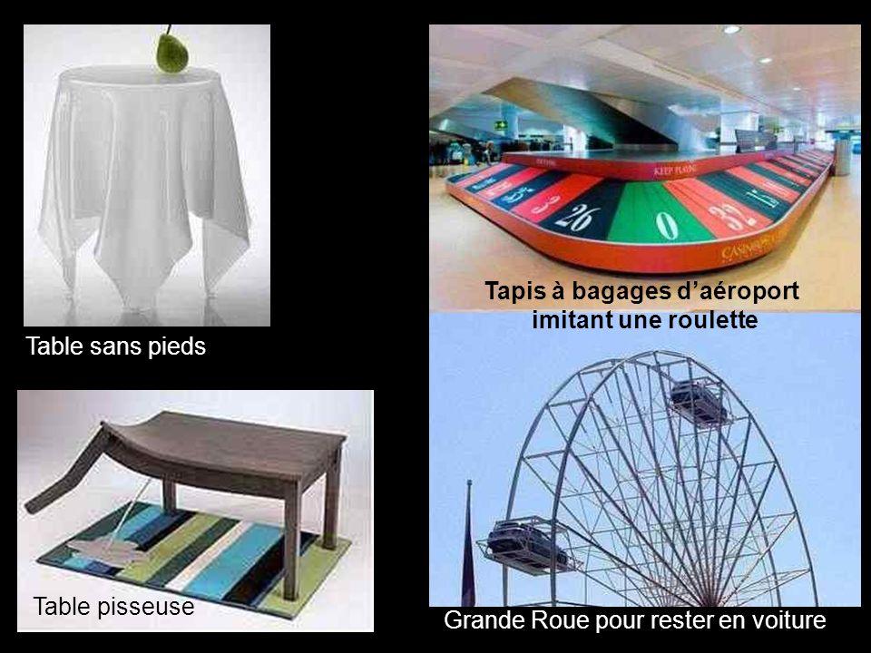 Grande Roue pour rester en voiture Tapis à bagages daéroport imitant une roulette Table sans pieds Table pisseuse