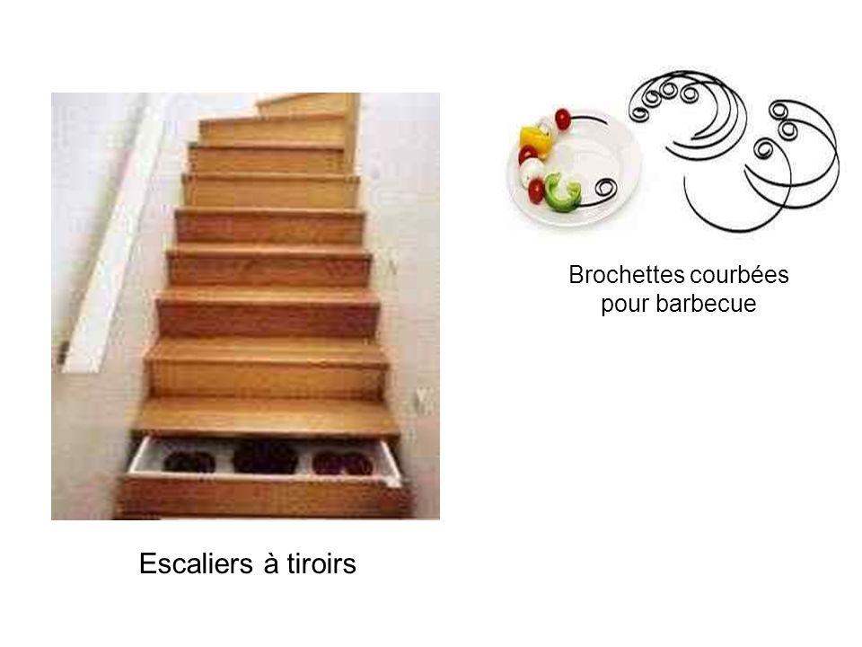 Escaliers à tiroirs Brochettes courbées pour barbecue