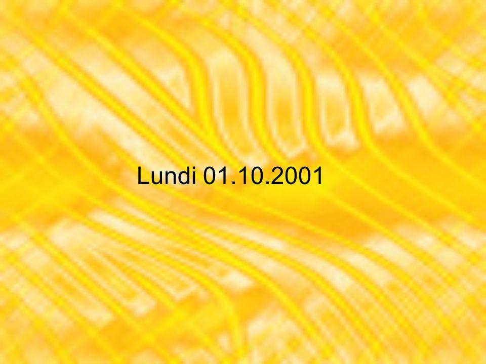Jeudi 11.10.2001