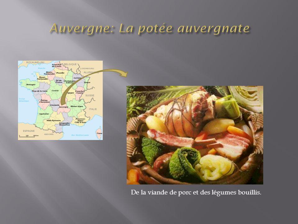 De la viande de porc et des légumes bouillis.