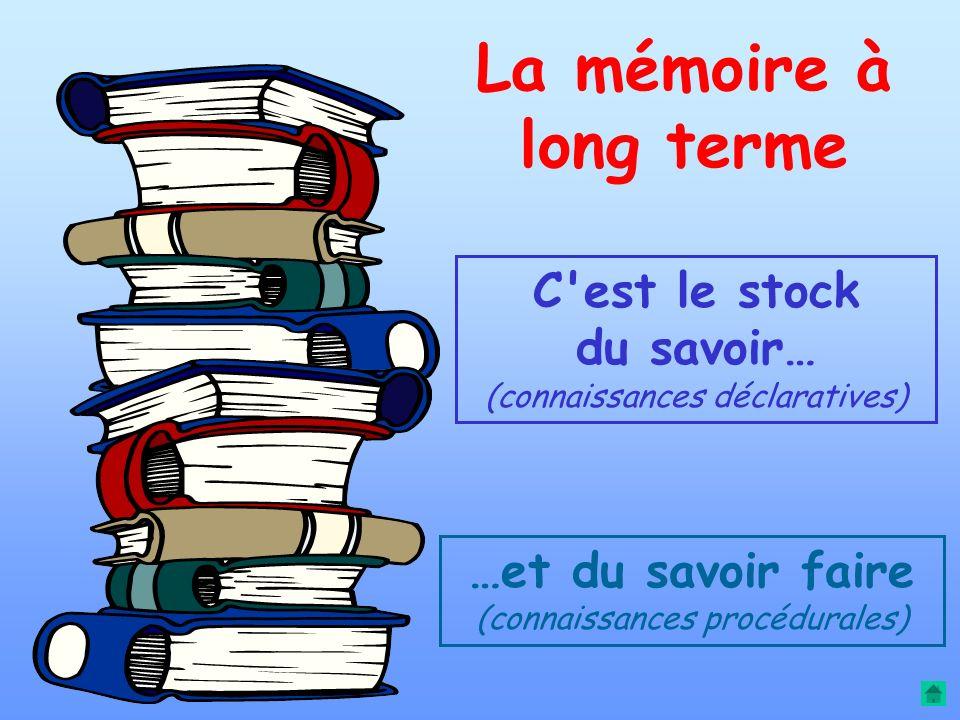 3 fonctions essentielles La mémoire à long terme (logiciel) La mémoire à court terme (RAM) La capacité de raisonnement (processeur)