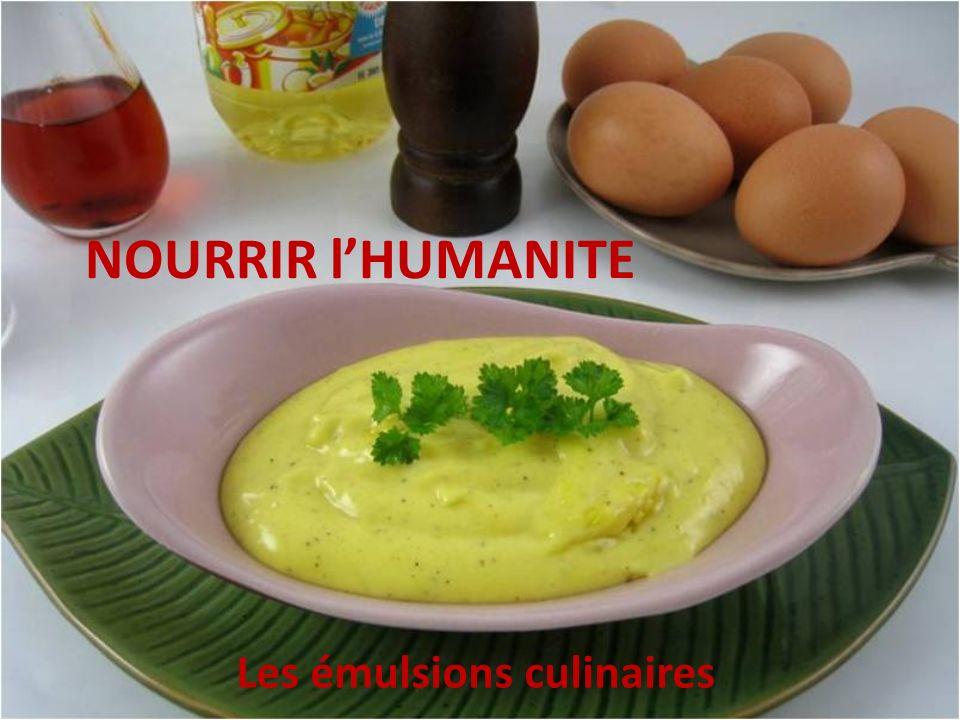 NOURRIR lHUMANITE Les émulsions culinaires