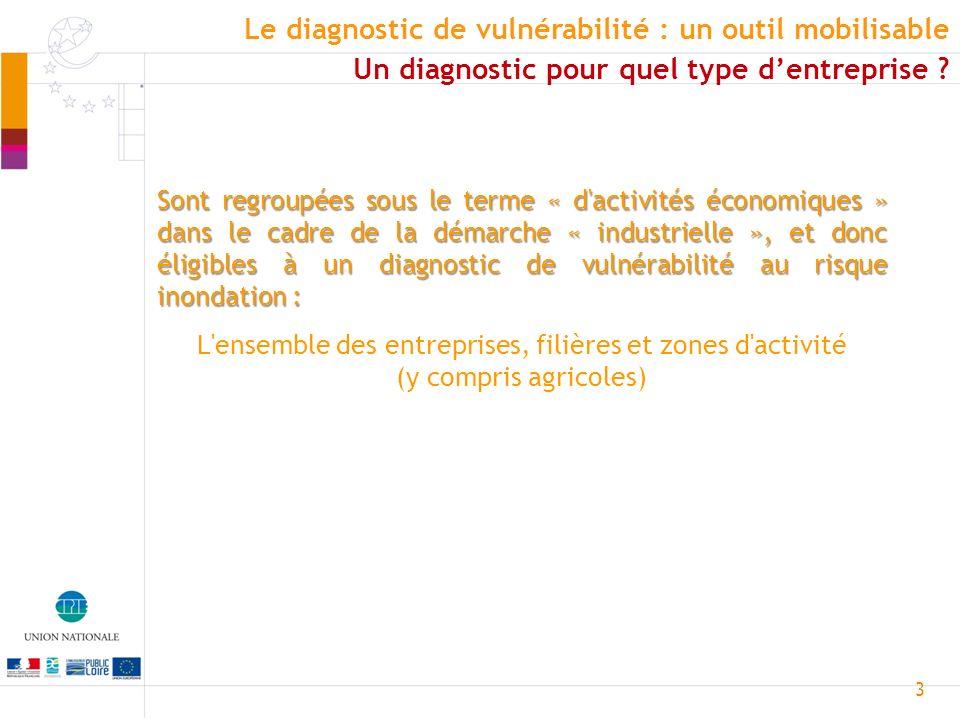 3 Sont regroupées sous le terme « d'activités économiques » dans le cadre de la démarche « industrielle », et donc éligibles à un diagnostic de vulnér