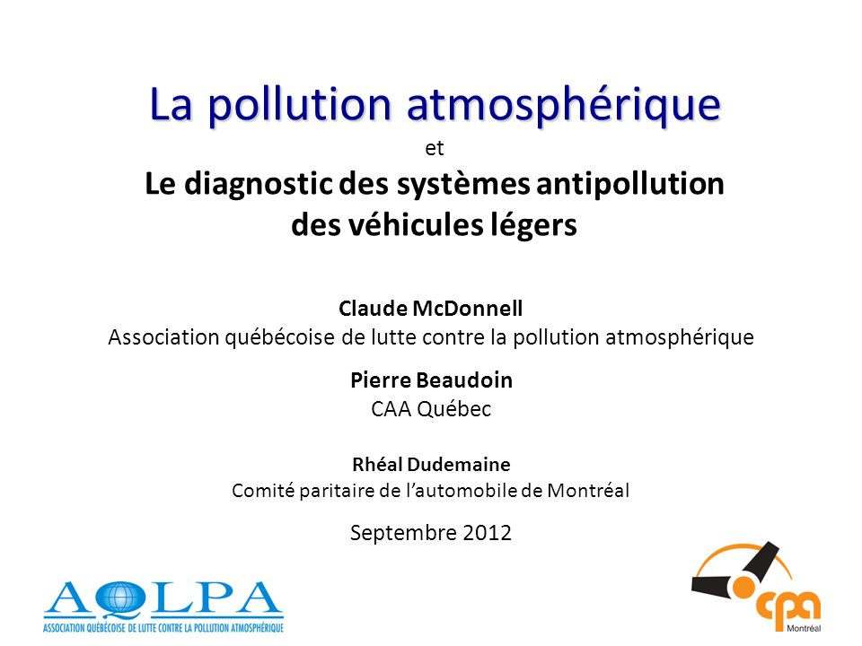 Effet de serre / Transport Ministère du Développement durable, Environnement et Parcs
