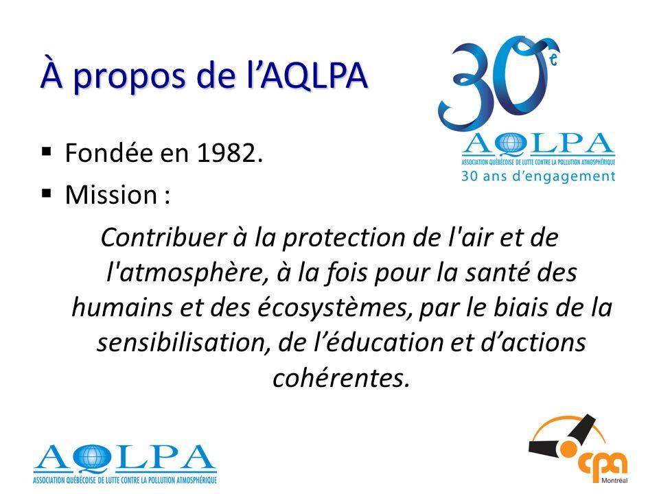 À propos de lAQLPA Fondée en 1982.