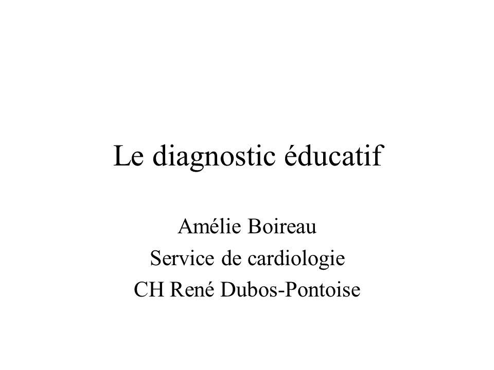 Le diagnostic éducatif Amélie Boireau Service de cardiologie CH René Dubos-Pontoise
