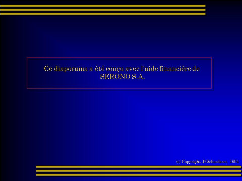 Ce diaporama a été conçu avec l'aide financière de SERONO S.A. (c) Copyright, D.Schorderet, 1994