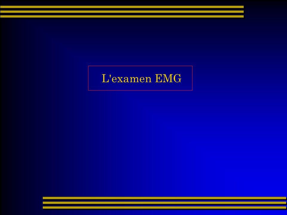 L'examen EMG