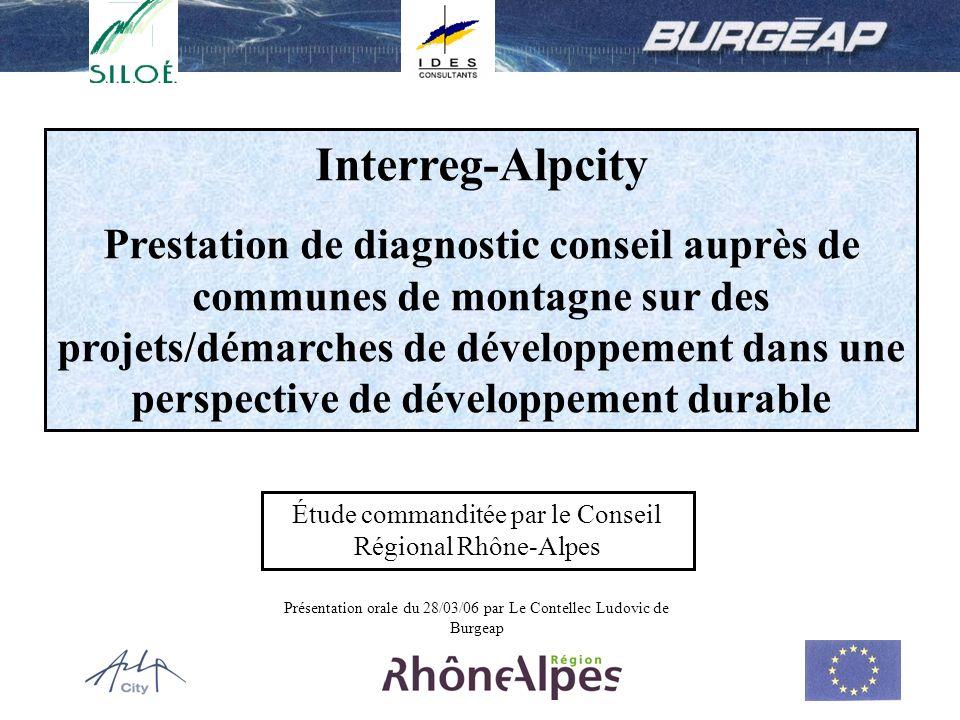 1 Interreg-Alpcity Prestation de diagnostic conseil auprès de communes de montagne sur des projets/démarches de développement dans une perspective de