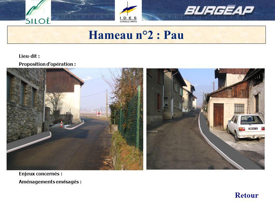 14 Hameau n°2 : Pau Lieu-dit : Proposition dopération : Enjeux concernés : Aménagements envisagés : Retour