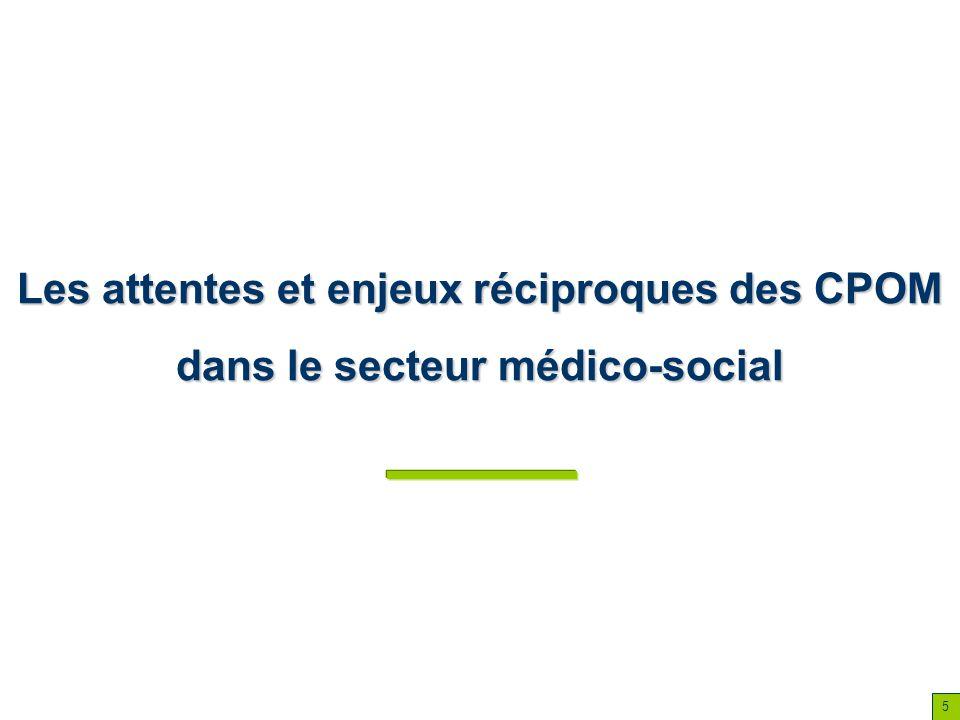 5 Les attentes et enjeux réciproques des CPOM dans le secteur médico-social