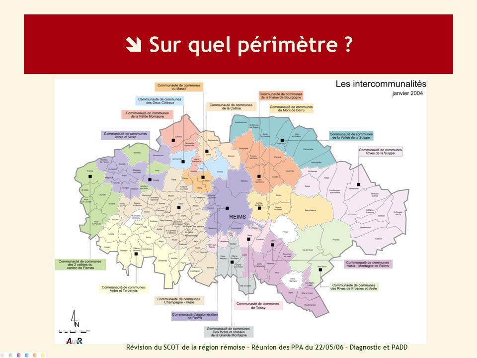 Révision du SCOT de la région rémoise – Réunion des PPA du 22/05/06 – Diagnostic et PADD Le diagnostic Déplacements Comment valoriser et optimiser les réseaux existants et programmés .