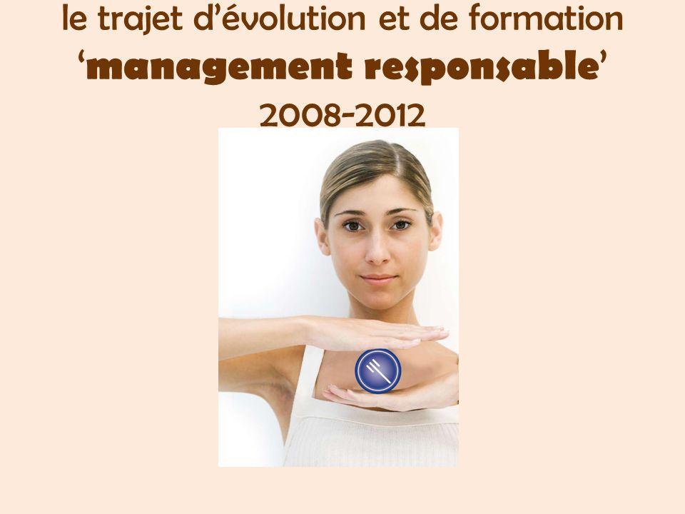 le trajet dévolution et de formation management responsable 2008-2012