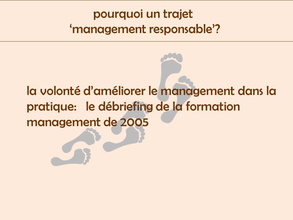pourquoi un trajet management responsable.