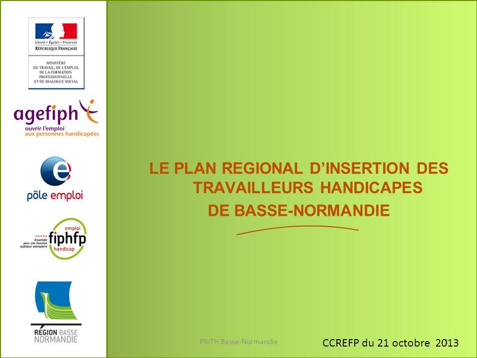 La formation (1) PRITH Basse-Normandie12 -Convention avec le Conseil Régional de Basse-Normandie.