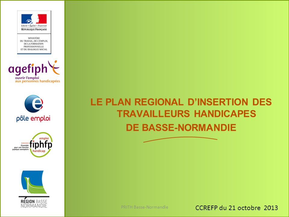 3. ORIENTATIONS 2013-2015 : PROPOSITIONS PRITH Basse-Normandie22