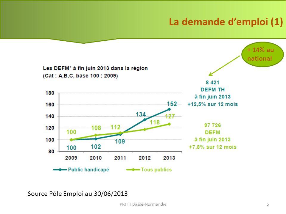 Source Pôle Emploi au 30/06/2013 La demande demploi (2) PRITH Basse-Normandie6