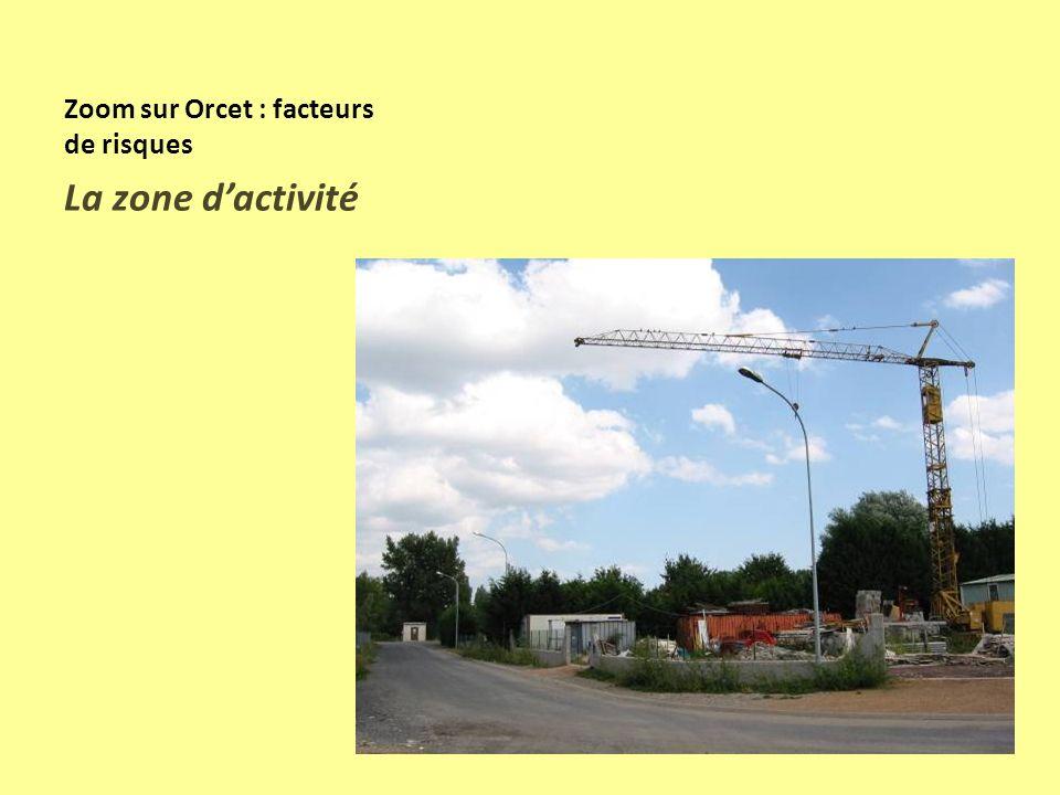 Zoom sur Orcet : facteurs de risques Extension du bourg sur les pentes