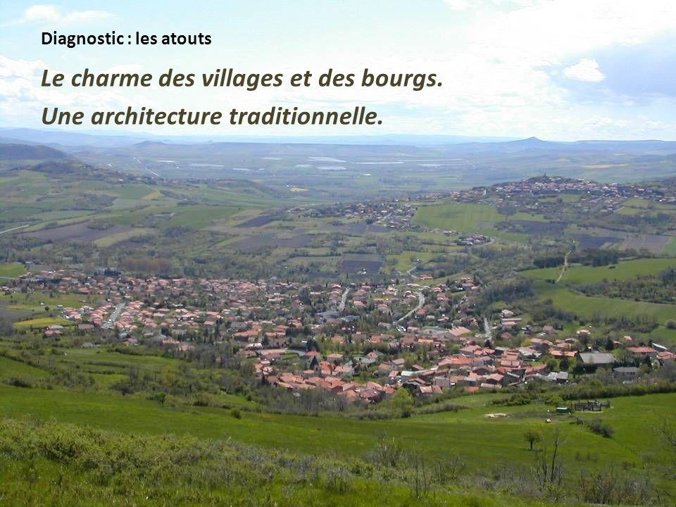 Diagnostic : les atouts Le charme des villages et des bourgs. Une architecture traditionnelle.